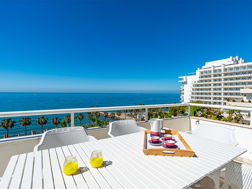 Terrace in a flat for rent in Marbella centre